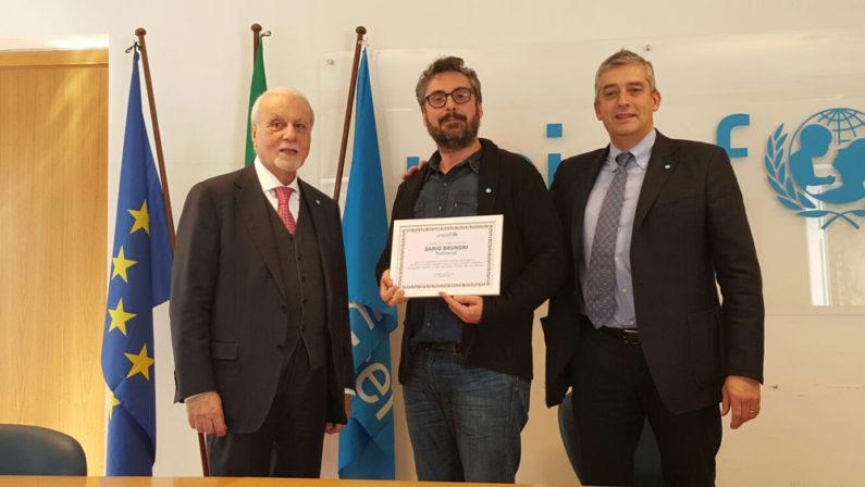 Brunori nominato a Roma testimonial dell'Unicef