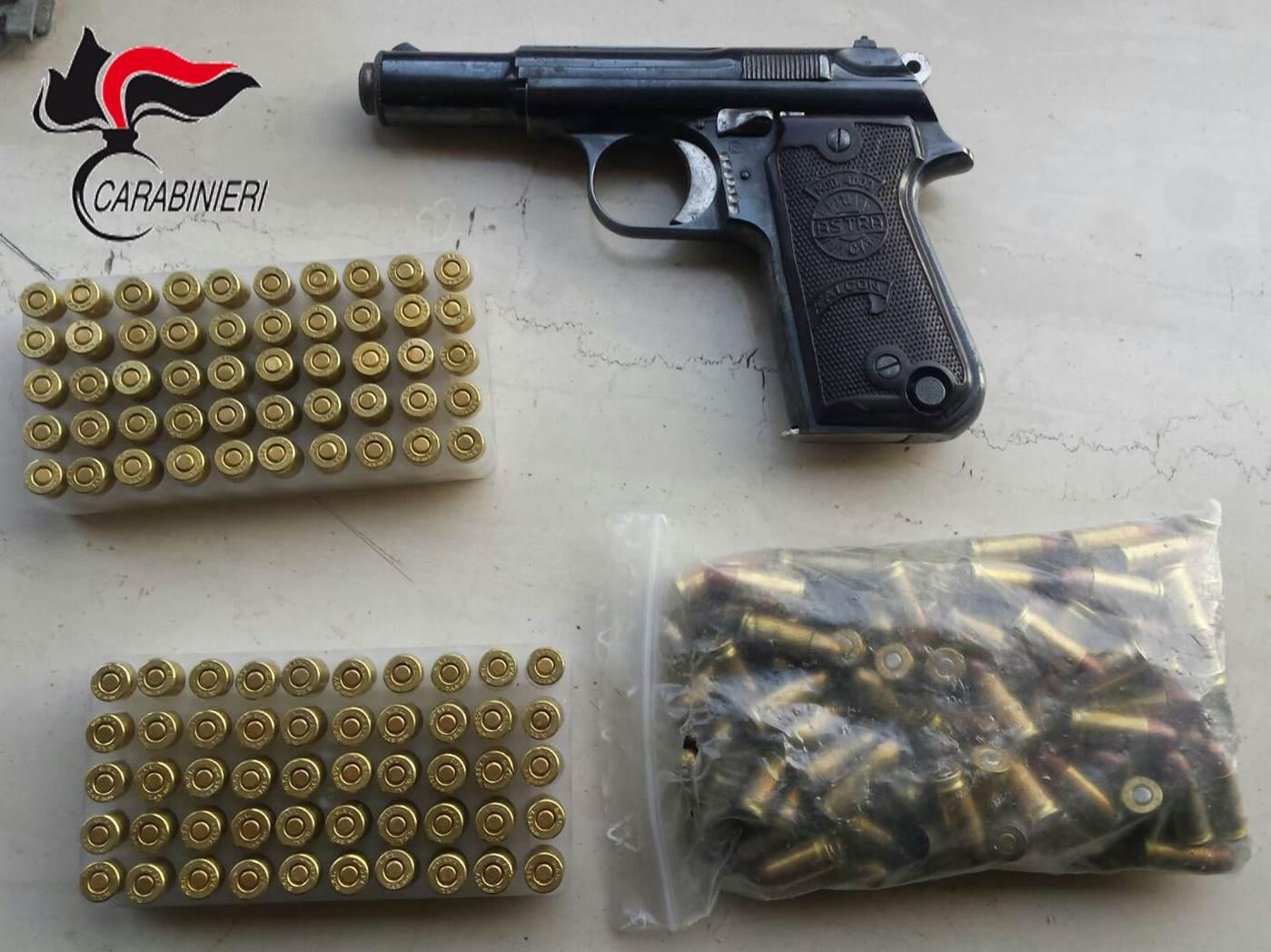 Deteneva munizioni in casa illegalmente, arrestato nel salernitano