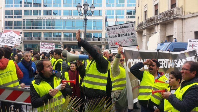 """Protesta al """"Marrelli Hospital"""""""