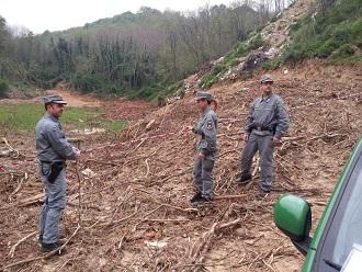 Sequestrato dal Corpo Forestale nel Cosentinoun cantiere per la messa in sicurezza di un fiume