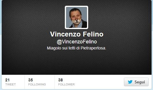 """Su twitter l'account """"@VincenzoFelino"""" E' il primo fake di un politico lucano"""