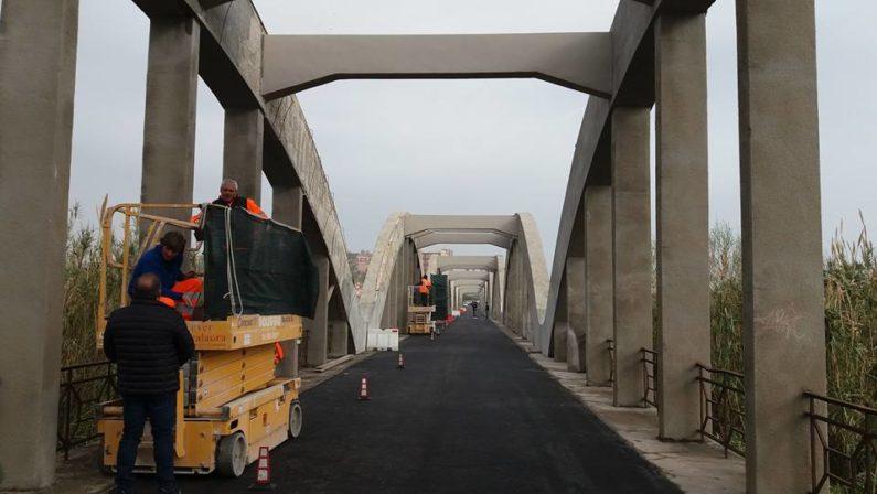 Catanzaro, riapre al traffico il ponte sull'AncinaleDopo i danni dovuti all'alluvione dello scorso anno