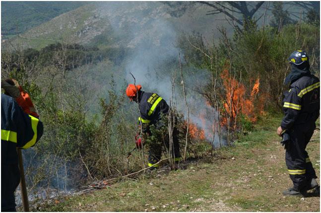 """Incendi boschivi: la Regione sperimenta il """"fuoco amico"""""""