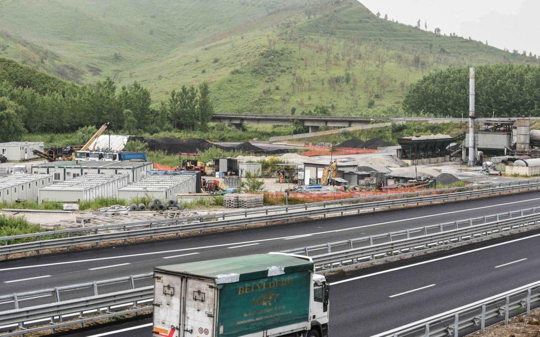 Un cantiere dell'autostrada Salerno-Reggio Calabria