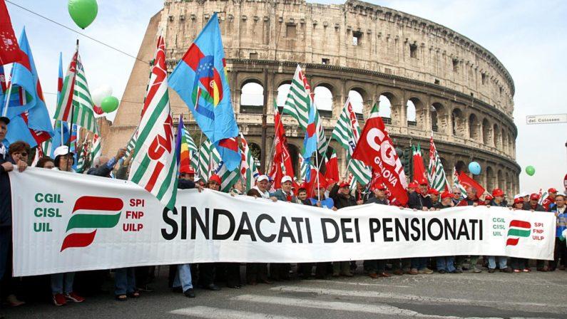 Pensioni, sindacati: in Basilicata 80-90mila quattordicesime
