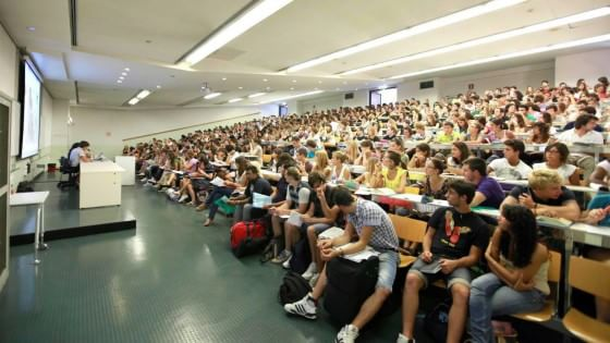 Un'aula universitaria