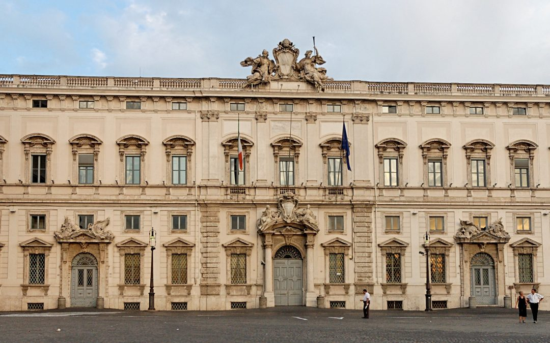 Il Palazzo della Consulta a Roma