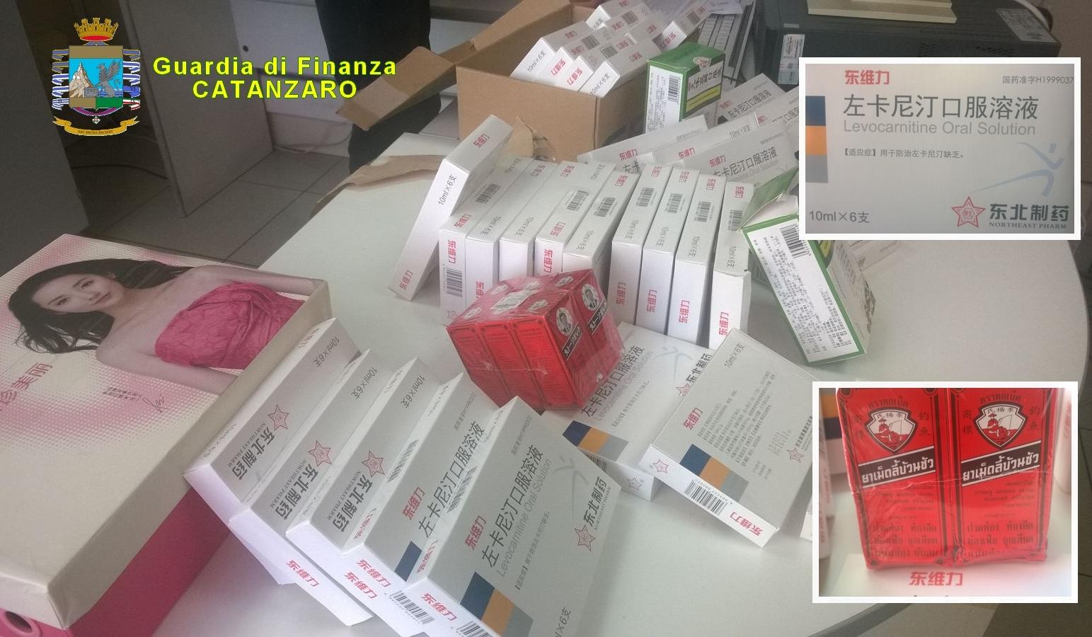 Farmaci cinesi sequestrati all'aeroporto di LameziaAlto rischio per la salute, denunciata una persona