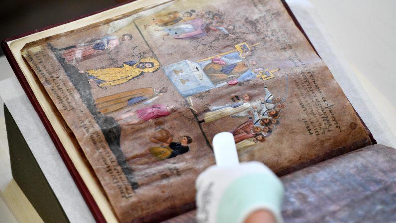Il Codex Purpureus Rossanensis sarà esposto a RossanoDopo il rientro in Calabria sarà visitabile dal 2 luglio