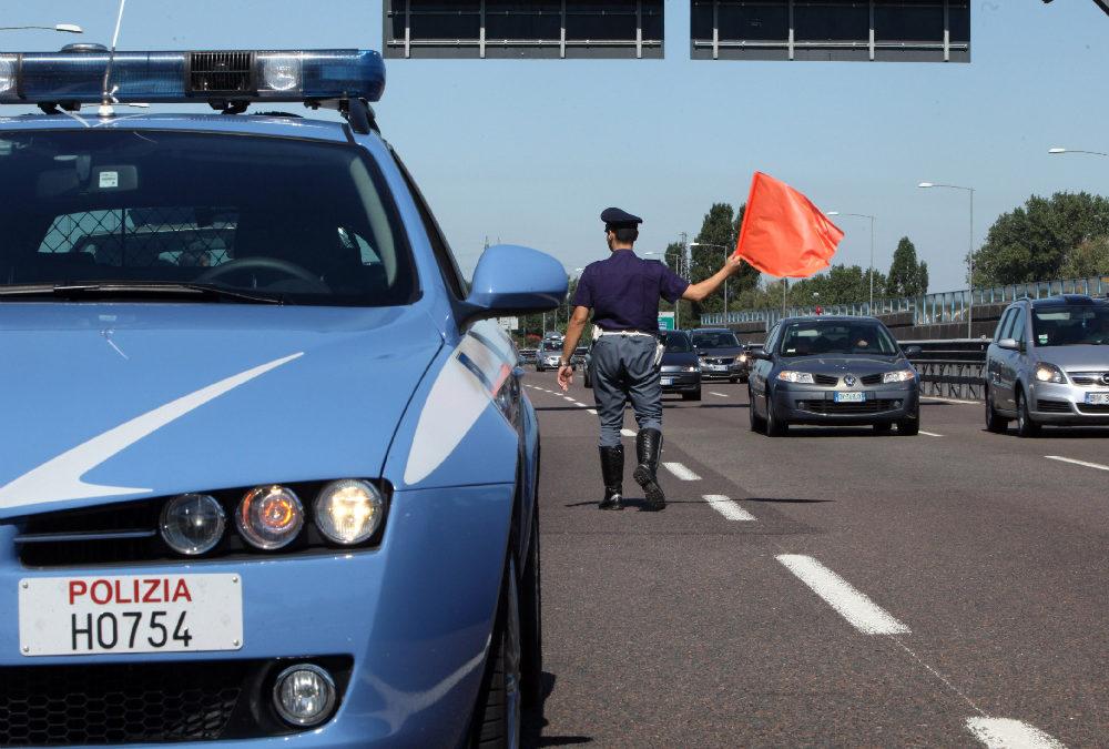 Un incontro della polizia stradale