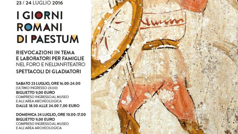 I giorni romani di Paestum,un evento di ricostruzione e rievocazione storica
