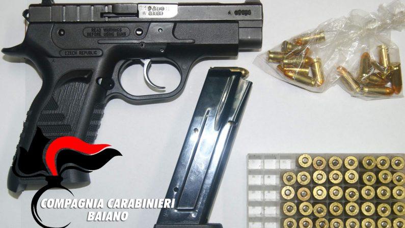 Sorpreso in casa con una pistola senza matricola e pronta all' uso:  64enne  irpini arrestato dai Carabinieri.