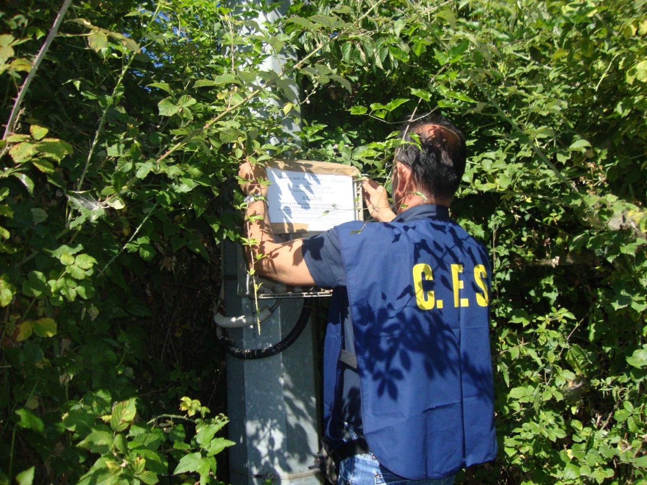 FOTO - Liquami dei depuratori cosparsi sul terrenoQuattro impianti sequestrati nel Cosentino