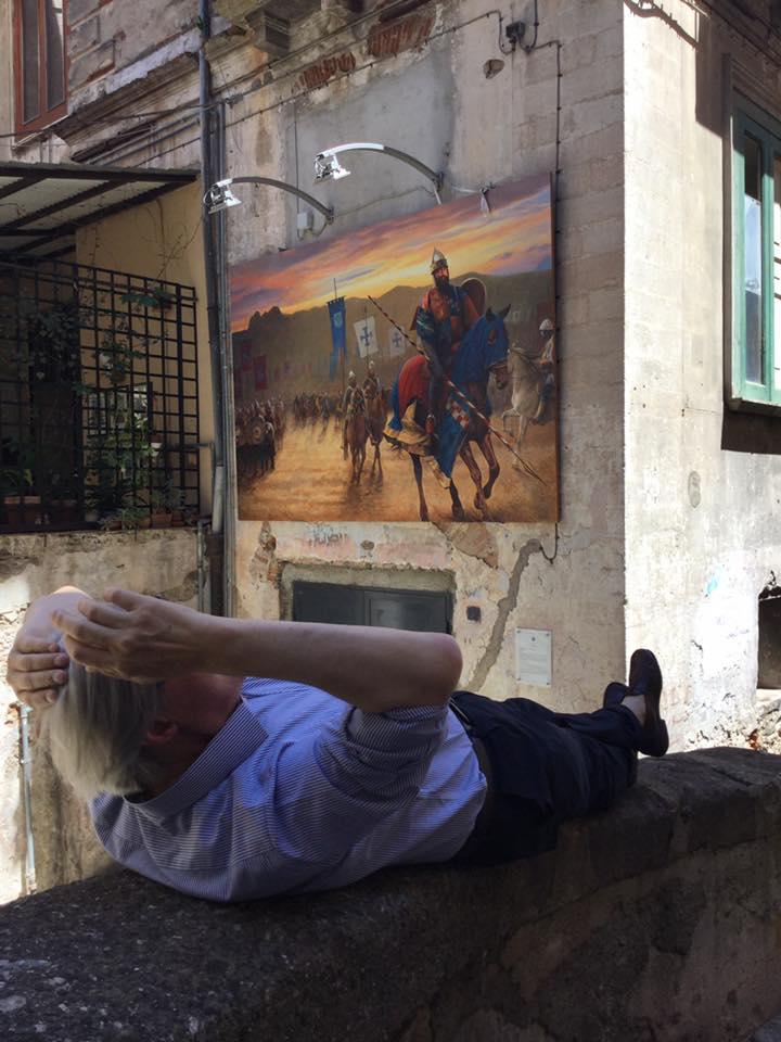FOTO - Il neo assessore Sgarbivisita il centro storico di Cosenza