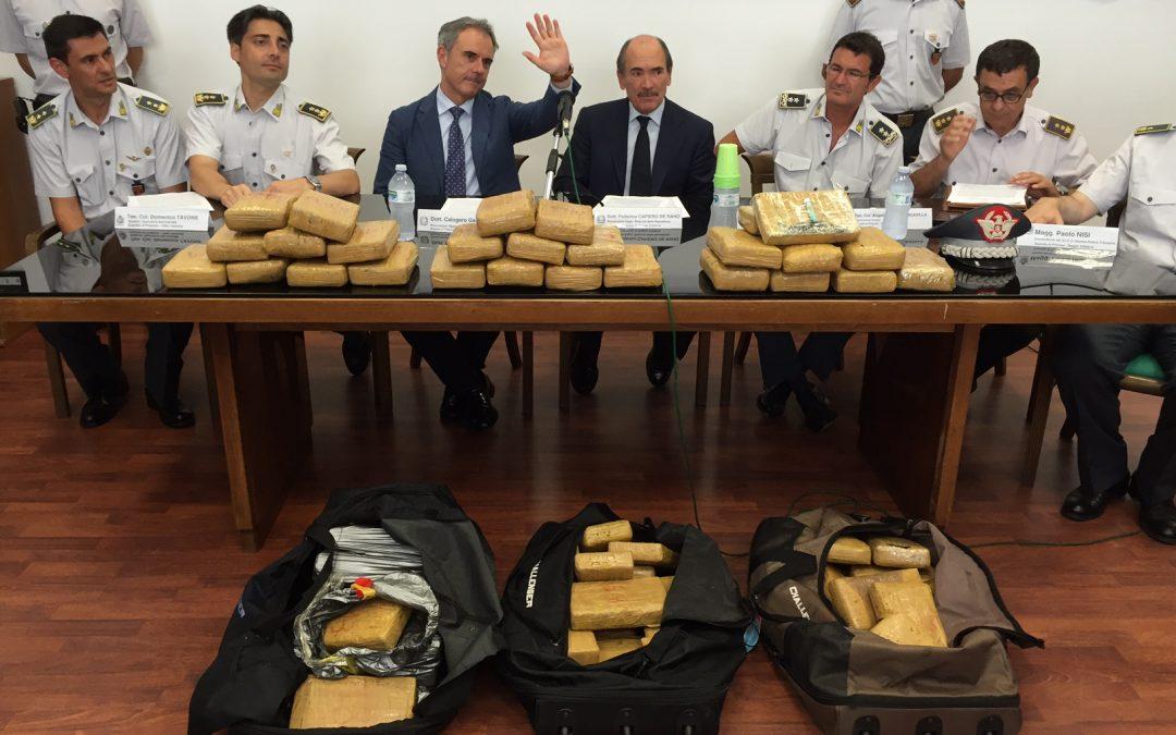 La cocaina sequestrata nel porto di Gioia Tauro