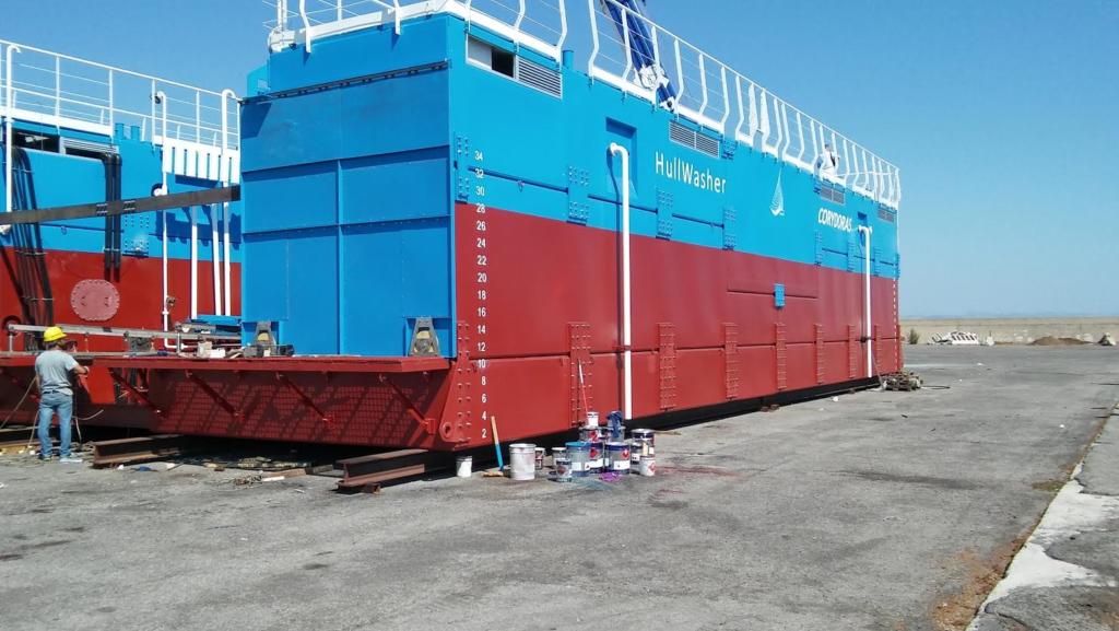 Lavaggio delle navi, varato a Crotone il primo impianto automatico di taglia media al mondo