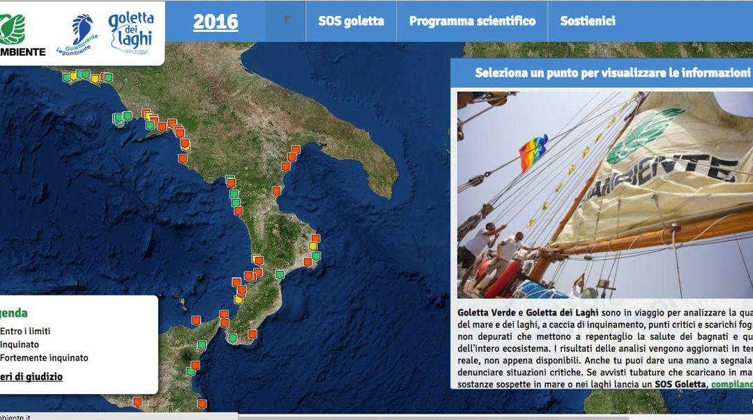 La mappa delle aree analizzate da Legambiente
