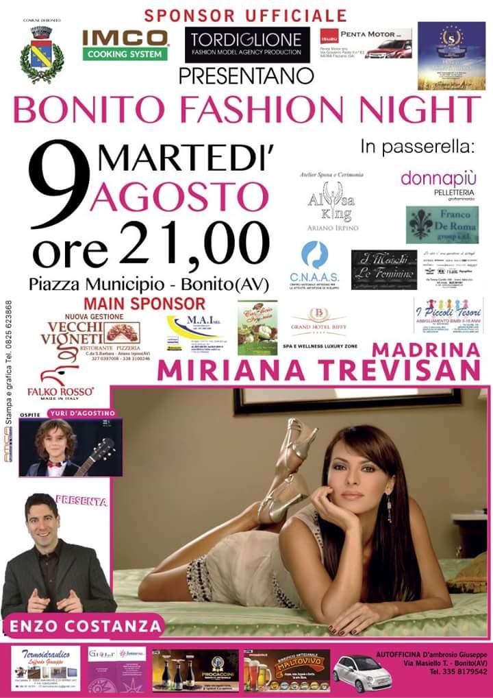 """A Bonito la ricca estate lungo il filo conduttore della moda e si appresta a vivere la """"fashion night"""" con Miriana Trevisan"""