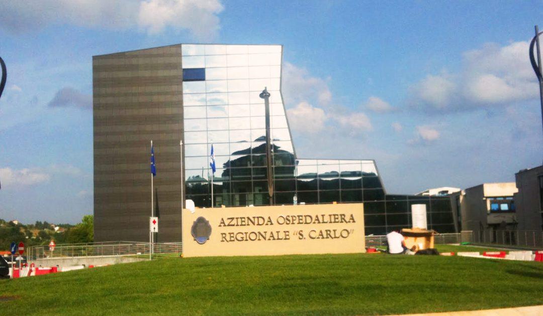 L'ospedale San Carlo di Potenza, sede dell'Azienda ospedaliera regionale
