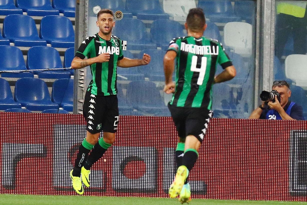 La notte magica del bomber calabrese Berardi: due gol per far sognare il Sassuolo in Europa