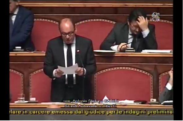 Il senatore Antonio Caridi