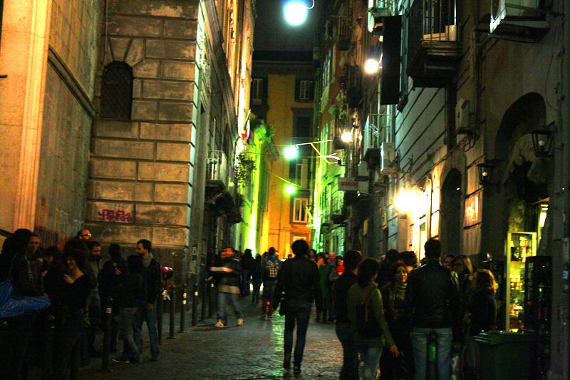 Piazza Bellini, luogo dell'aggressione