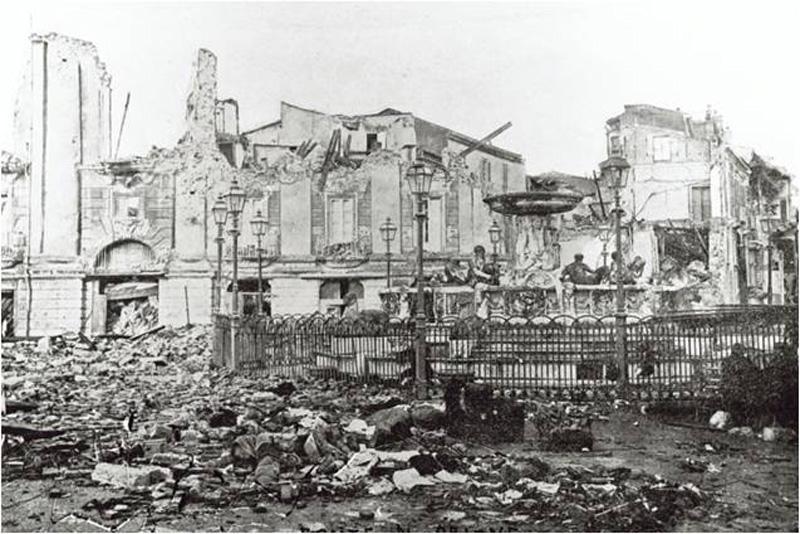 Una immagine del terremoto di Reggio Calabria del 1908