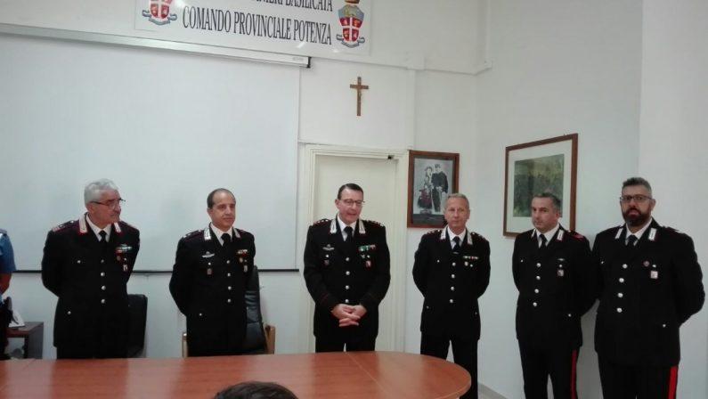 Via Palma, arriva Scardecchia: cambio ai vertici dei carabinieri di Potenza