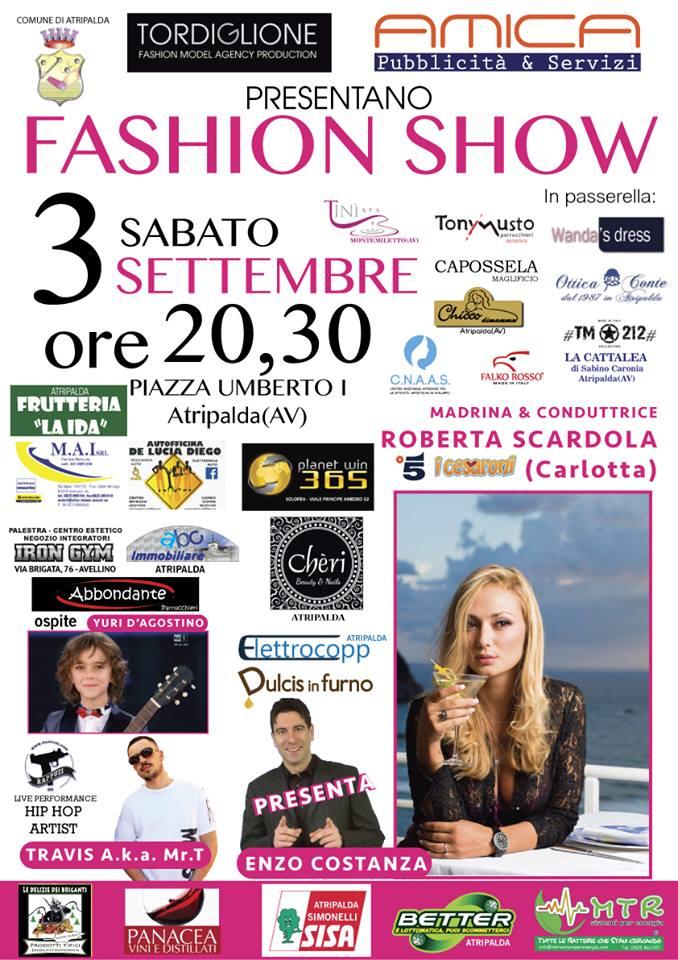"""Atripalda, """"Fashion show con Roberta Scardola, la Carlotta de """"I Cesaroni"""""""