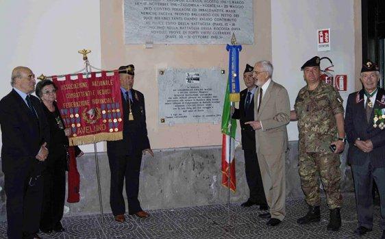 Avellino, l'omaggio della Caserma Berardi al Colonnello Marcì e al Tenente Lucadamo