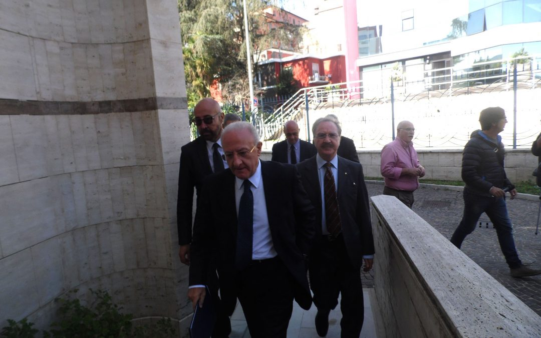 De Luca torna in Irpinia è lancia la volonta per il sì al referendum costituzionale