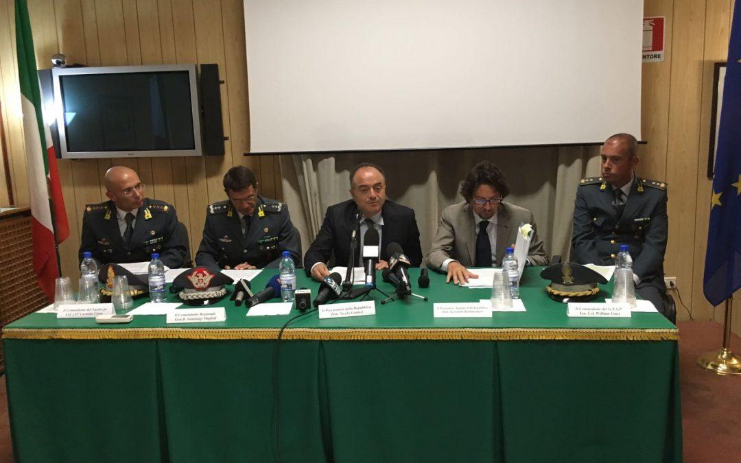 La conferenza stampa di Procura e Guardia di finanza