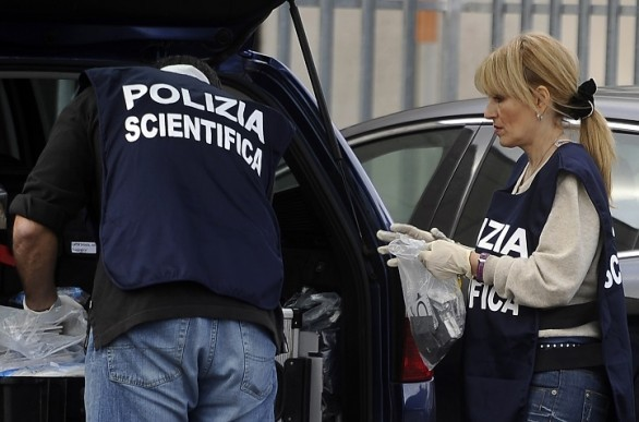Rilievi della polizia scientifica