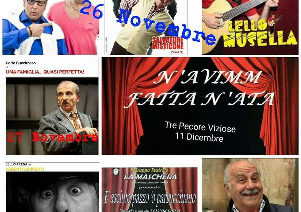 """A Novembre prende il via a Montefusco la 1^ rassegna di teatro """"comico"""""""