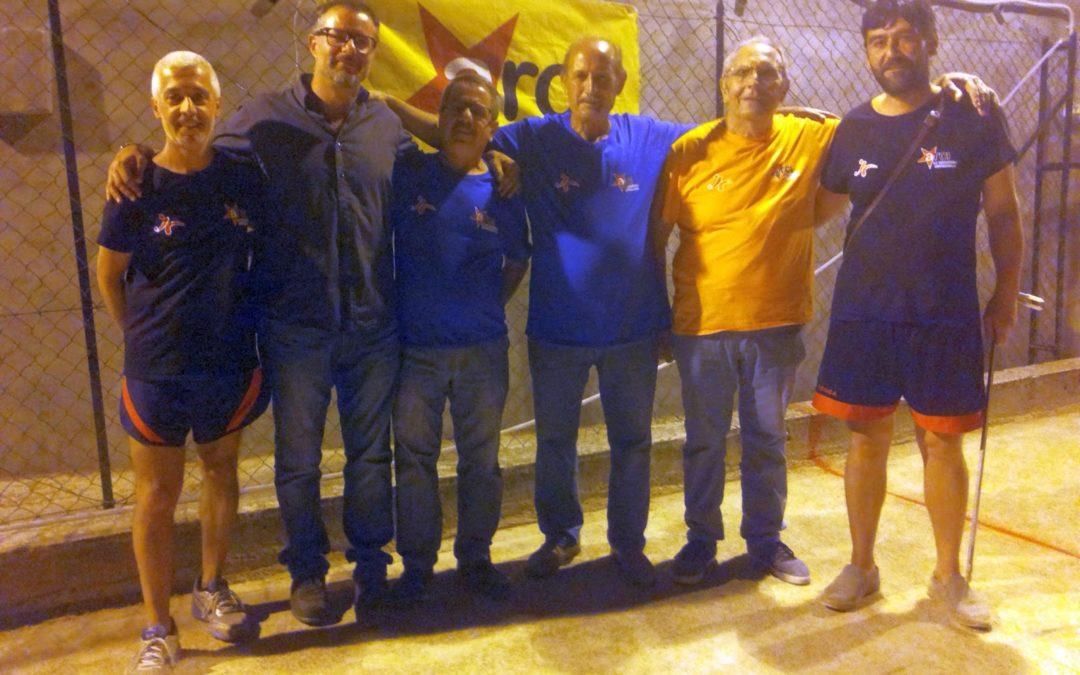 Rotondella, luglio 2016: torneo di bocce italo-curdo, i vincitori sono Erdogmus ed Elcik (al centro)
