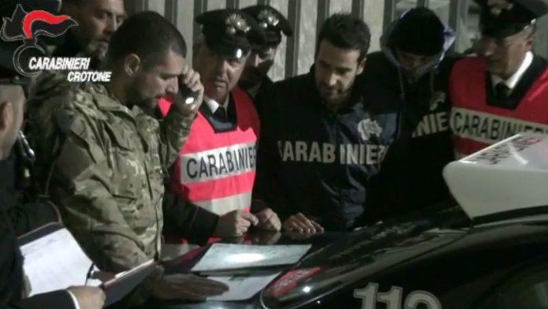VIDEO - Operazione Six Town, le immagini dei carabinieri della compagnia di Crotone