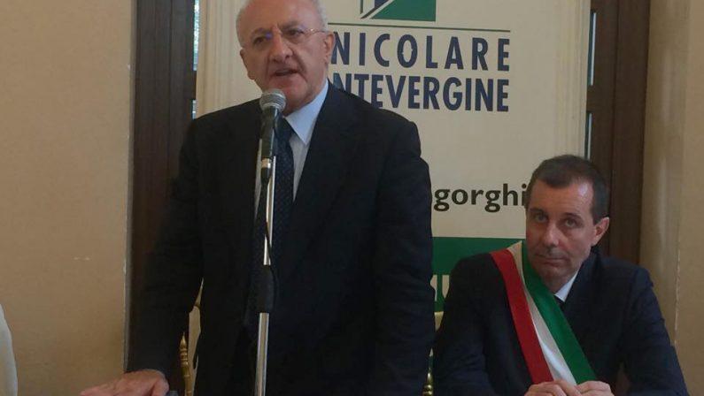 """De Luca, luci d'artista: """"In Campania oltre due milioni di visitatori"""""""