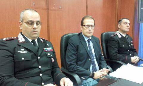 il colonnello  Fabio Ottaviano, il procuratore Eugenio Facciolla, il tenente Massimo Cipolla