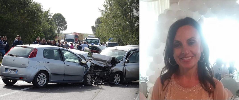 L'incidente di Irsina in cui ha perso la vita Rosa Sprovera (foto da facebook)