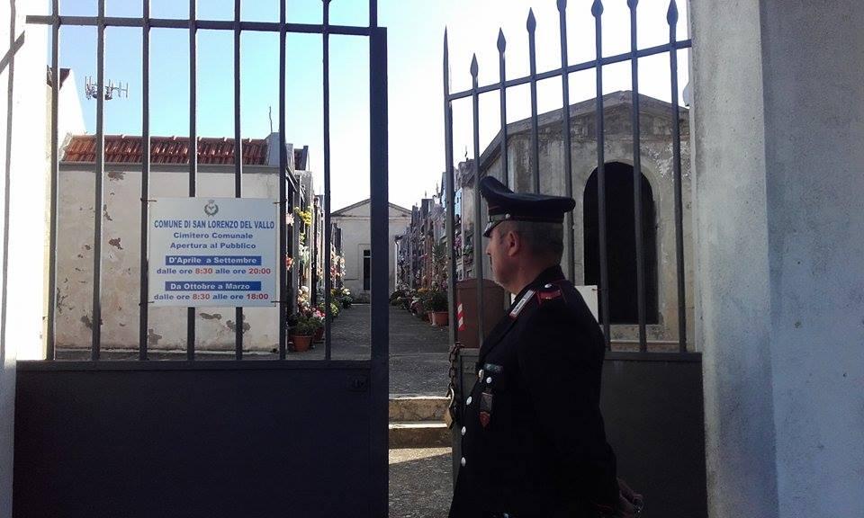 Il cimitero dove è avvenuto il duplice delitto