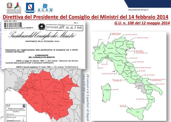 """Piano di emergenza per il Vesuvio: entro 72 residenti della """"zona rossa"""" saranno evacuati"""
