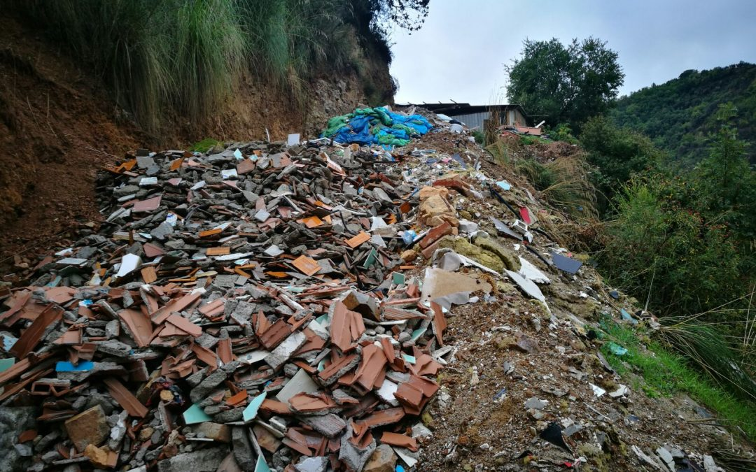 L'area dove venivano smaltiti i rifiuti