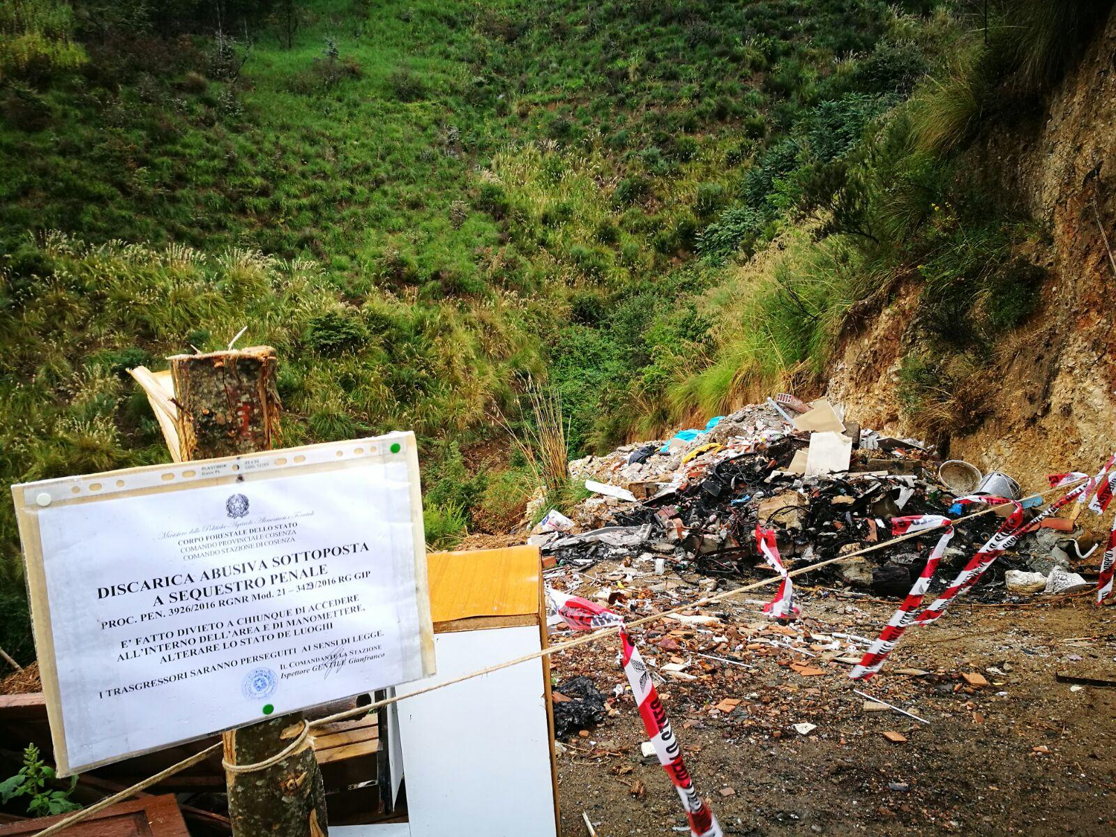 Sequestro rifiuti a Cosenza