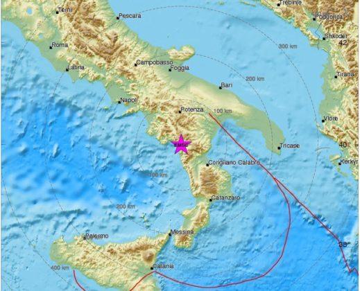 Trema la Basilicata: scossa di magnitudo 4.3 nel Potentino