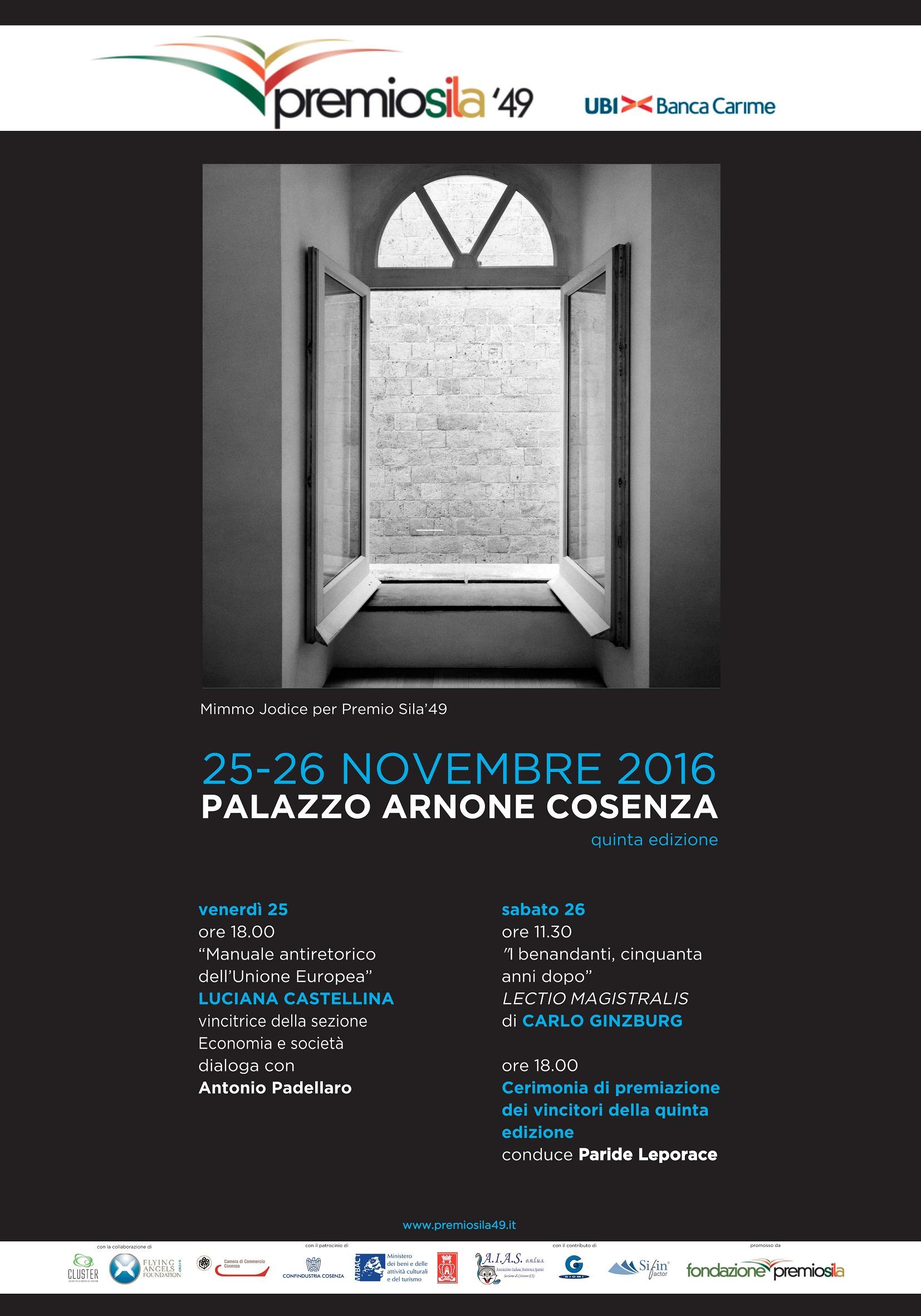 Premio Sila, aggiudicati i numerosi riconoscimentia Trevisan (letteratura) e Castellina (Economia)
