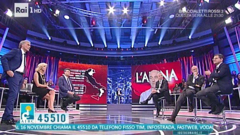 Lo scandalo di Calabria Verde finisce su RaiUnoA L'Arena di Giletti anche il giornalista Orofino