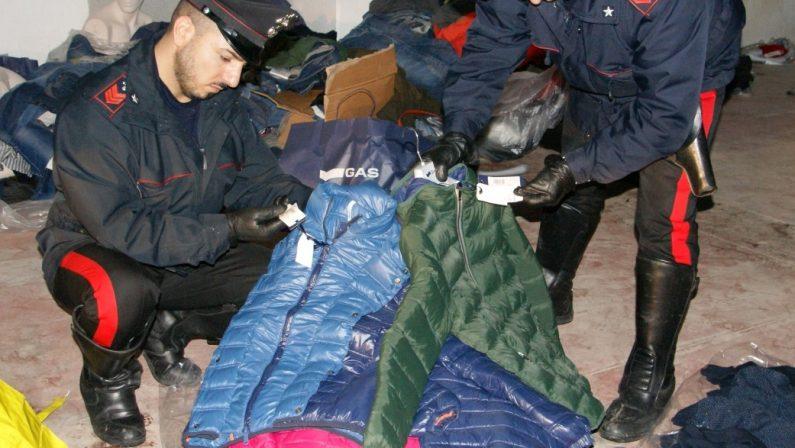 Catanzaro, scoperto un deposito di merce rubataI Carabinieri trovano beni per oltre 90 mila euro