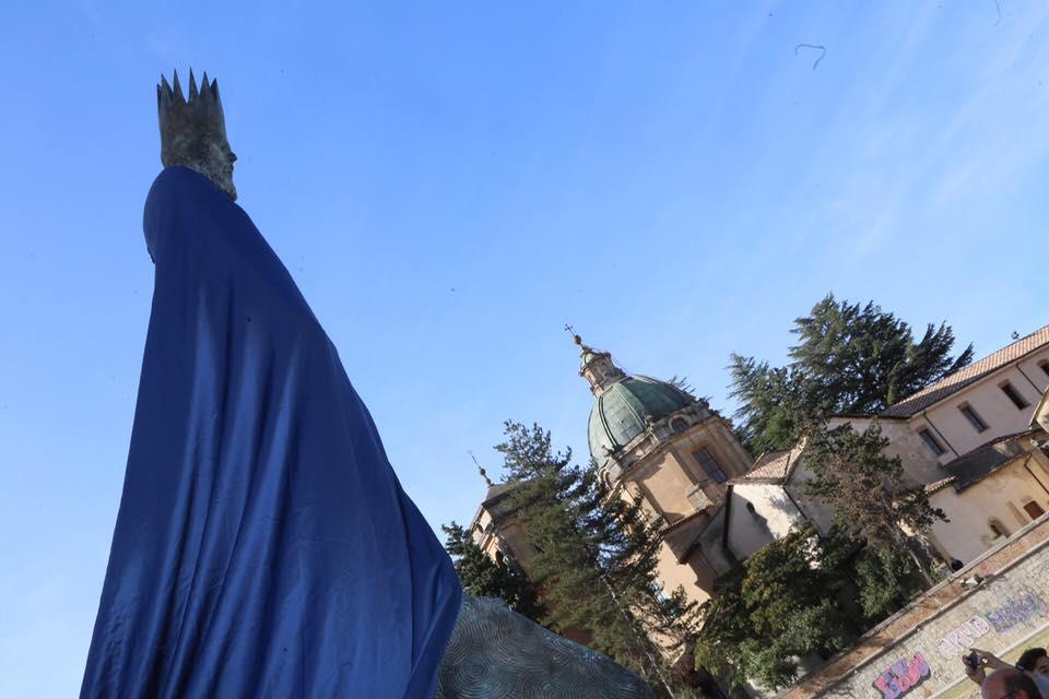 Lo svelamento della statua di Alarico a Cosenza