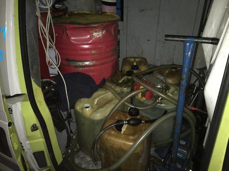 Gasolio, sequestrati oltre mille litri nel casertano