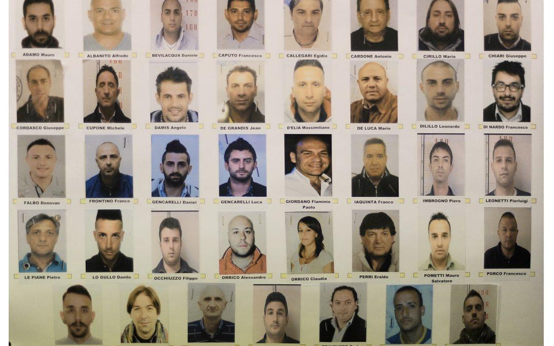 FOTO – Operazione Factotum: gli arrestati  e le immagini della conferenza stampa